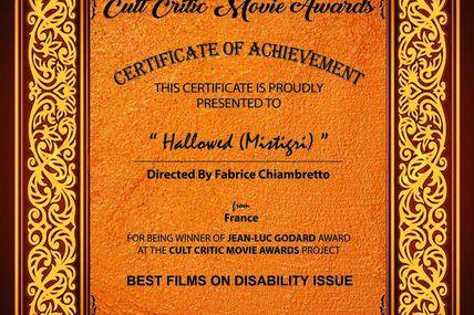 Mistigri récompensé au Gala annuel de CULT CRITIC à Calcutta