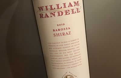 Barossa shiraz 2010 William Randell