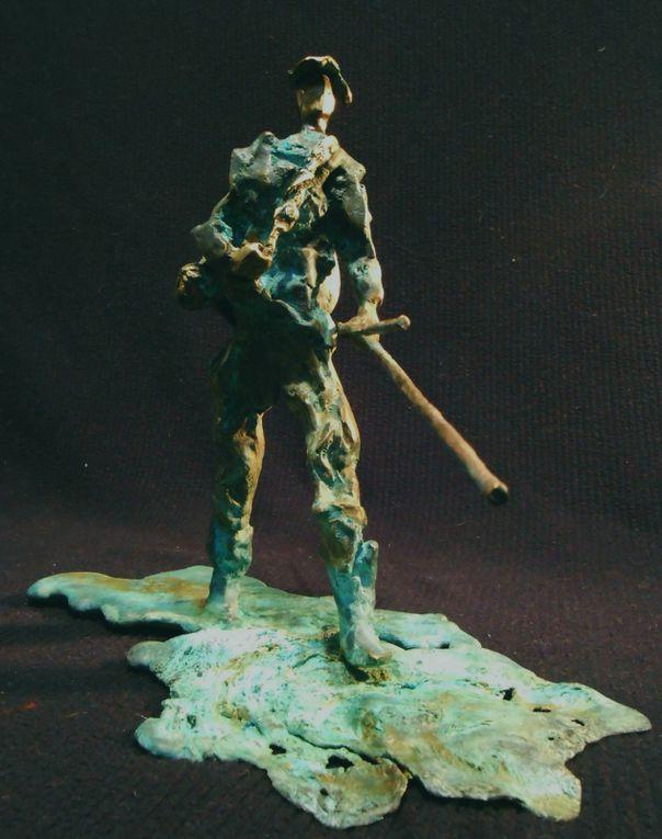 bronze, marbre, sculptures peintes, performance...