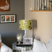 BROADVIEW HEIGHTS: Slipcovered lamp shades