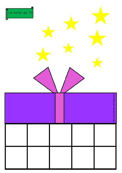Boîtes de 10 Noël pour différentes activités