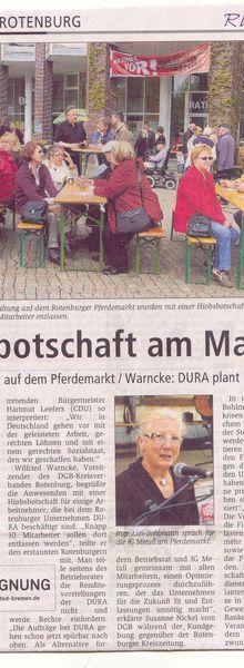 Rotenburg: HIOBSBOTSCHAFT am Maitag