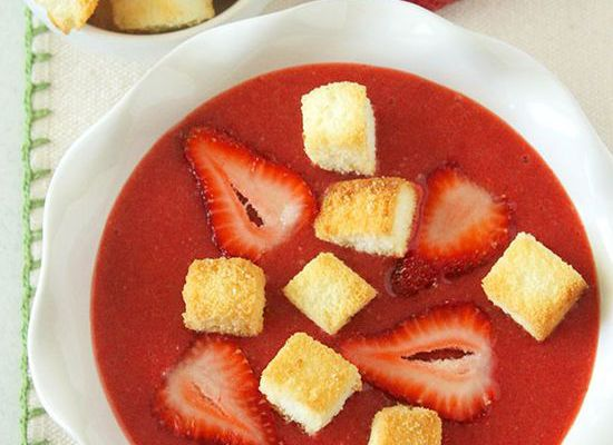 Strawberry Soup with