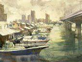 Shigeto Fujieda watercolor painter Japan - GALERIE VITRINARTWORLD
