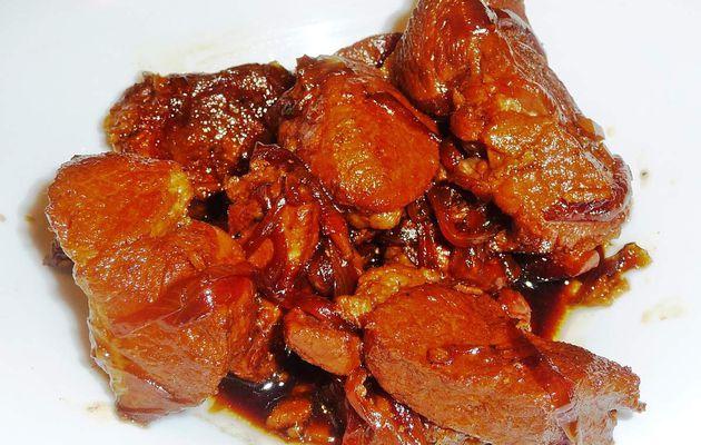 Porc au gingembre caramélisé