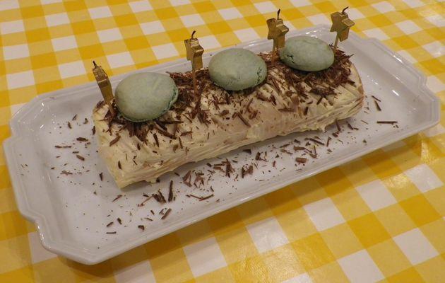 Bûche traditionnelle crème au beurre café