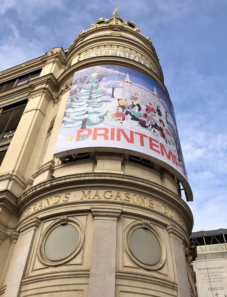Galeries Lafayette Printemps au temps du Covid 19