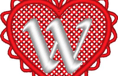 ABC cœur dentelle: la lettre W