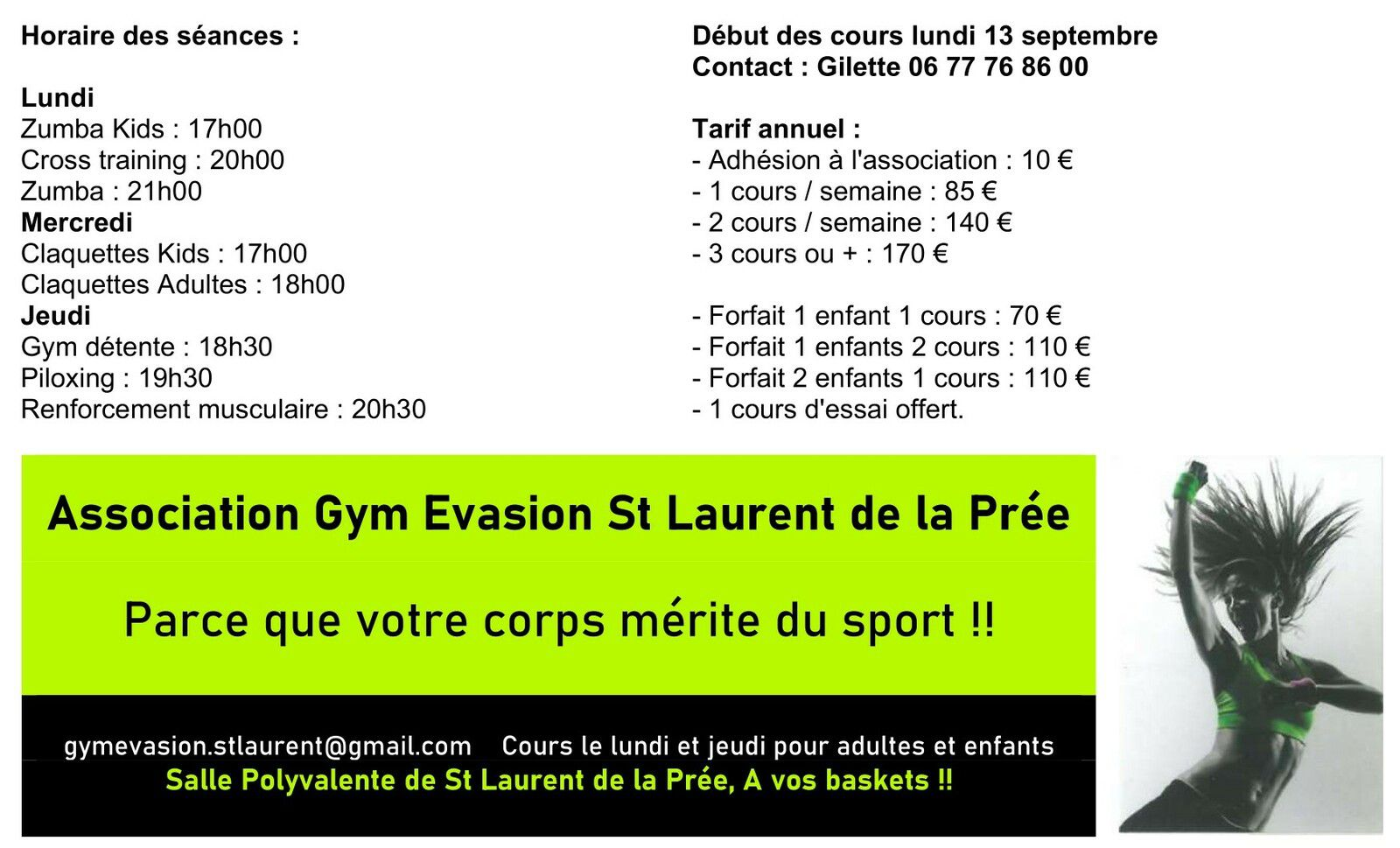 COURS GYM EVASION