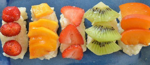 Fruits d'été à la Japonaise ,façon sushis