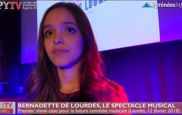 Eyma sera Bernadette de Lourdes (Fév 18) | HPyTv La Télé des Pyrénées