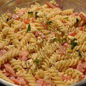 Salade pâtes tomates mozzarella cookeo -