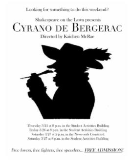 Cyrano, Bergerac, toucher, sens, thème,