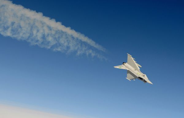 Photo : © UK MoD - Eurofighter Typhoon britannique lors d'un combat aérien rapproché.