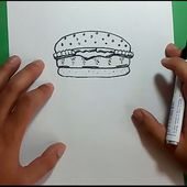 Como dibujar una hamburguesa paso a paso 2   How to draw a hamburger 2