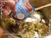 Lotte aux poireaux, lait de coco et curry