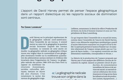 David Harvey et la géographie radicale