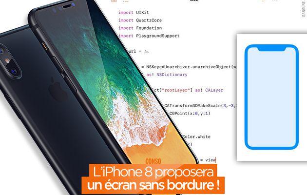 L'iPhone 8 proposera un écran sans bordure ! #iPhone8