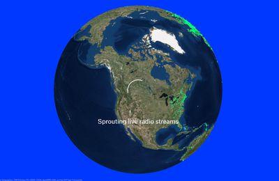 WebRadio géolocalisées - une interface temps réel sur le monde en 3D