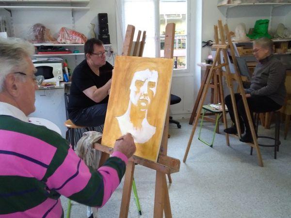 Le portrait, puis la théorie de la couleur étaient au rendez-vous