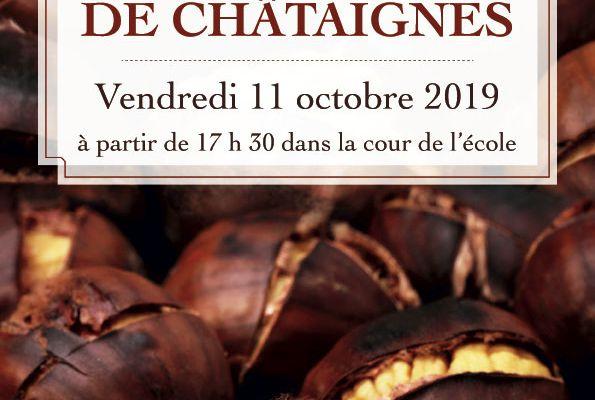 Grillée de châtaignes le vendredi 11 octobre 17h30