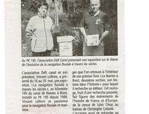 Au PK 195 sur le Nantes à Brest, article du Télégramme du 06 06 2012.