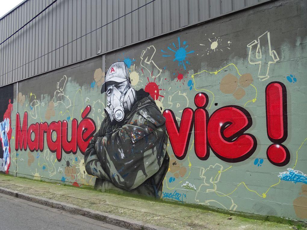 Street Art aux abords du canal Saint-Denis (93)