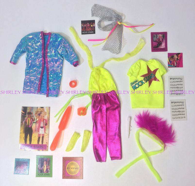"""""""ROCKERS"""" DIVA DOLL CLOTHES 1985 MATTEL #2427"""