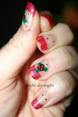 Nail art de Noël!!