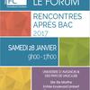 Agenda du jour : forum des rencontres après bac 2017