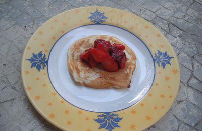 Recette : pancakes aux fraises.....