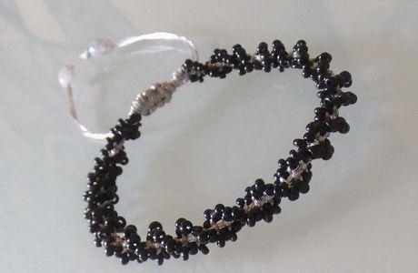 bracelet macramé torsadé perlé