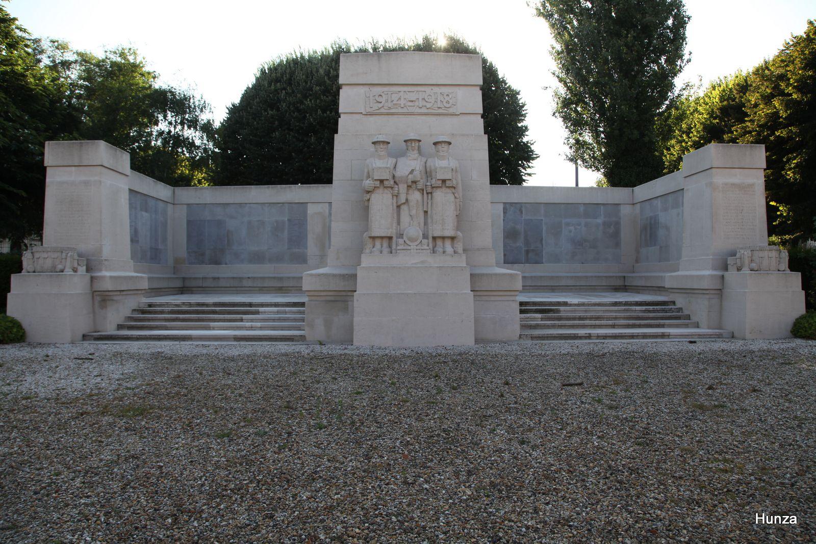 Soissons, monument des Anglais