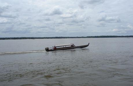 Guyane, à St Laurent, sur les rives du Maroni
