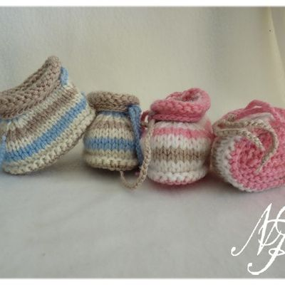 Chaussons tricot layette