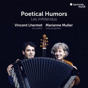les inAttendus, un fameux duo composé de marianne muller à la viole de gambe et di grand vincent lhermet à l'accprdéon