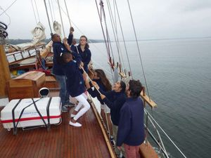 L'équipage des Matelots de la Vie en juin 2014 - Saint Nazaire