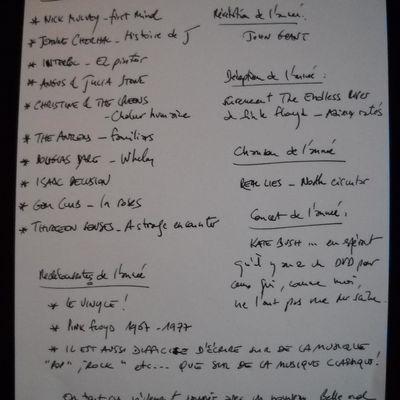 2014, fragments d'album