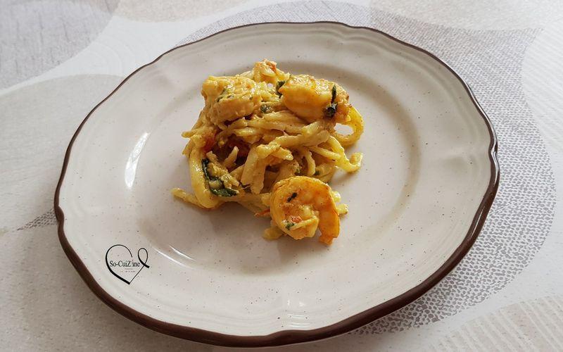 Creamy Tuscan Shrimp ou les pâtes crémeuses aux crevettes