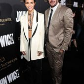 Ruby Rose flaunts tum with Keanu Reeves at LA premiere of John Wick 2