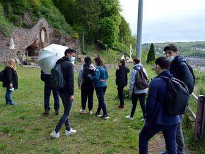 A la grotte d'Algrange avec l'école Maryse Bastié de Hayange.
