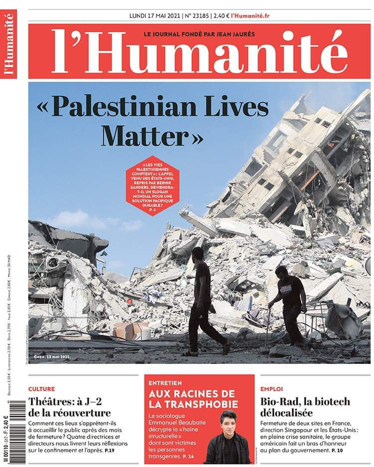 A la une de l'Humanité (17-05-21)