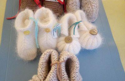 Petite ribambelle de chaussons pour bébés