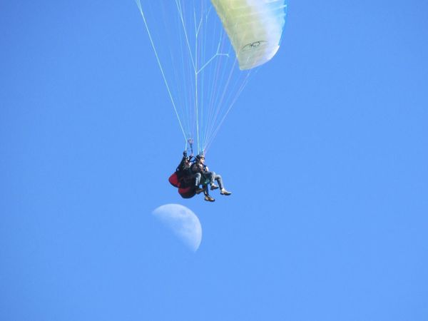 Paragliding on the moon...
