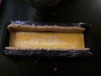Bûche mousse au chocolat crème brulée croustillant praliné