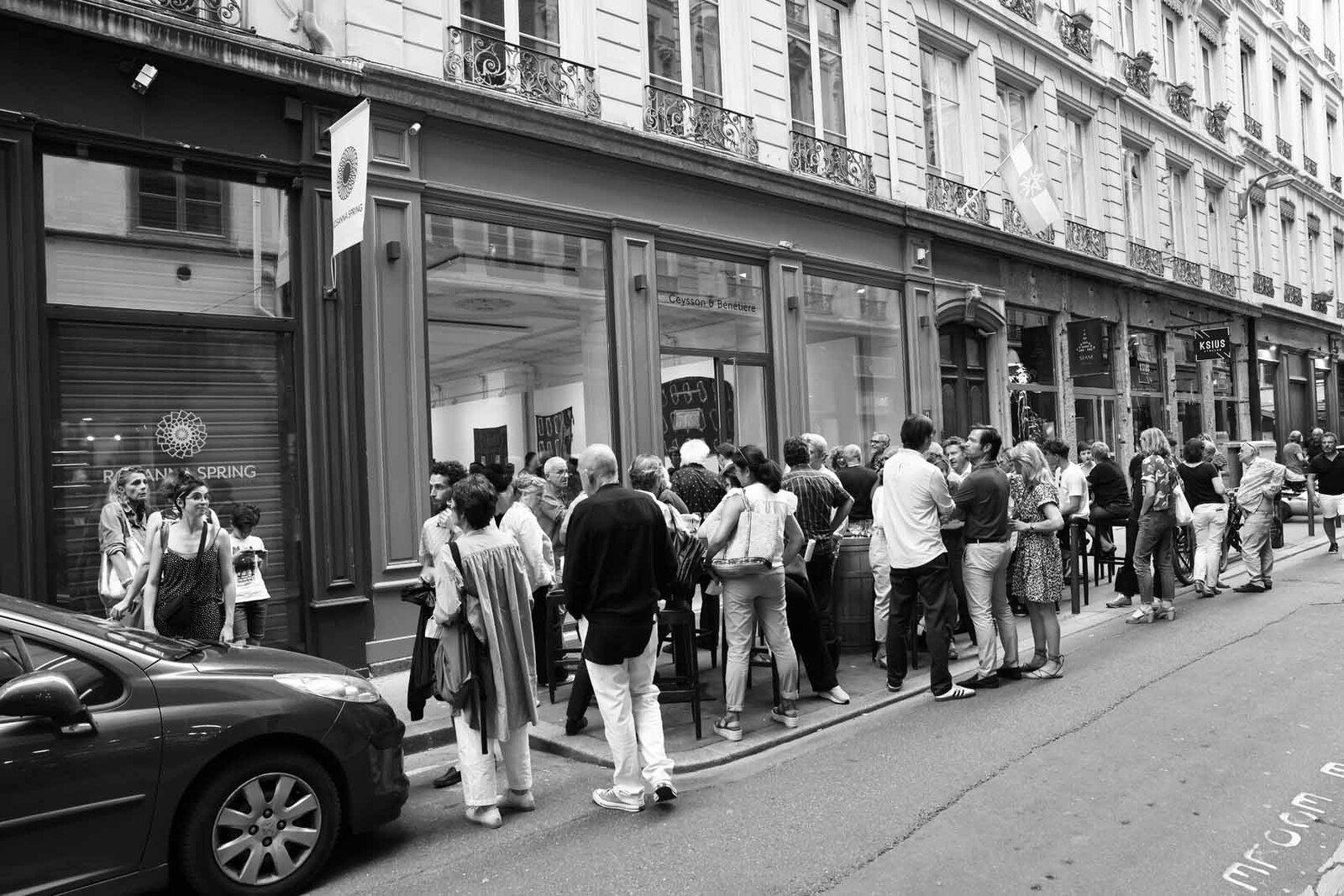 Vernissage de l'exposition Claude Viallat