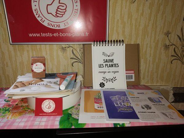 Réception et unboxing de la box éco-responsable et zéro gaspillages -UP! Box@ Tests et Bons Plans