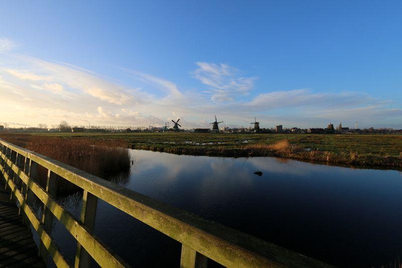 Zaanse Schans au lever du soleil. Matin du 30/12/2013