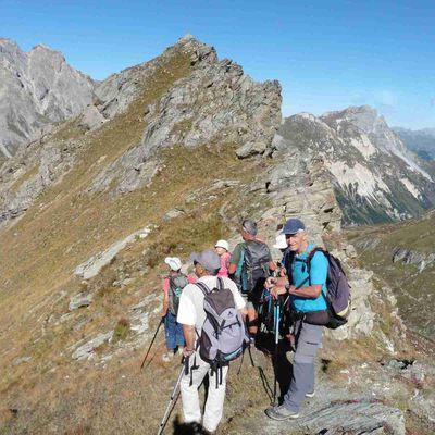 Sous la Pointe Ariande avec l'Adapar (2583 m.).