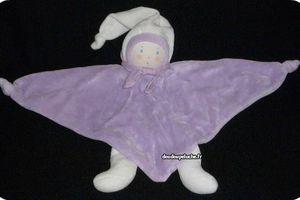 doudou lutin poupée triangle violet nounours ENVOI SUIVI OFFERT